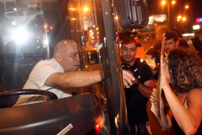 מפגינים מול קריית הממשלה בתל אביב (צילום: מוטי קמחי)