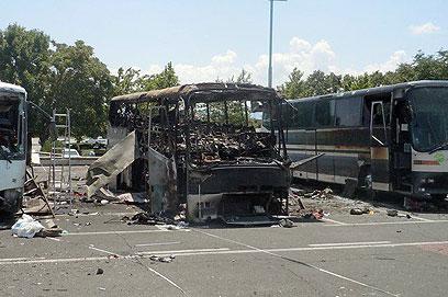 זירת הפיגוע בבורגס (צילום: AP)