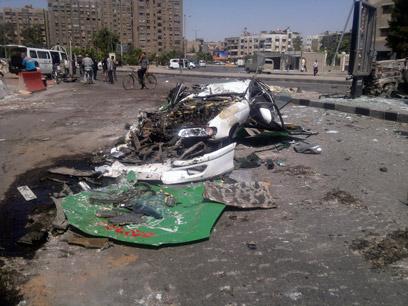 """""""אנחנו חוששים מכל מה שקורה בסוריה"""". דמשק, השבוע (צילום:AP)"""