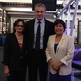 Spitzer, Romano and Israeli ambassador to UK, Daniel Taub Photo: Israeli Embassy in London