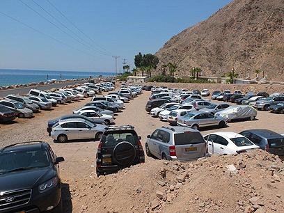 """סמוך למסוף טאבה, לפני כמה חודשים (צילום: יאיר שגיא """"ידיעות אחרונות"""")"""