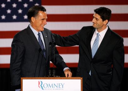 חשף את הצד האישי שלו. רומני (משמאל) וראיין (צילום: AP)