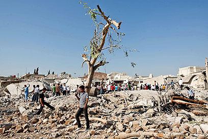 הרס בצפון סוריה. משטר אסד נחלש בהדרגה (צילום: AFP)