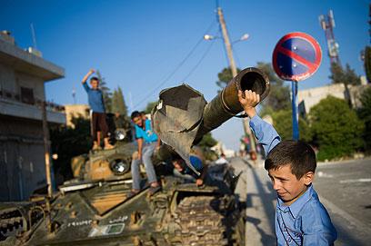 המציאות העגומה של הילדים בסוריה (ארכיון)                  (צילום: AFP)
