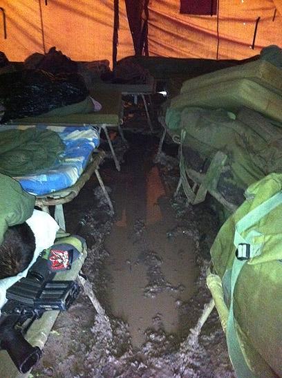 כך נראה אוהל חיילים של כיפת ברזל (ארכיון)