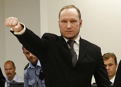 ברייויק בבית המשפט (צילום: AFP)