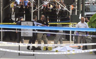 ירי ברובה ציד, בלב מנהטן (צילום: AP)