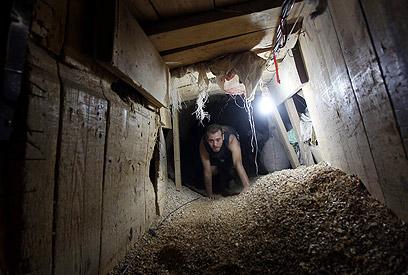 מנהרה ברפיח, צילום ארכיון (צילום: EPA)