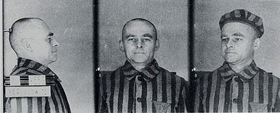 פילצקי כפי שתועד כאסיר באושוויץ (צילום: AP)