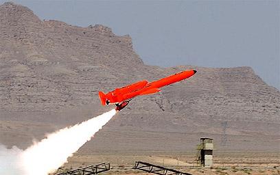 """ניסוי המל""""ט האיראני (צילום מסך)"""