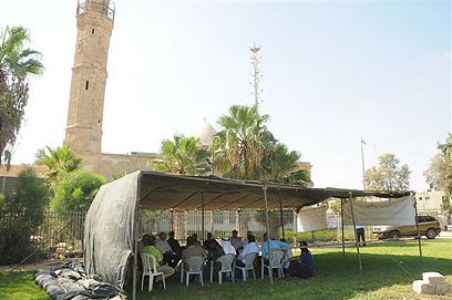 אוהל המחאה של הבדואים ליד אתר הפסטיבל (צילום: הרצל יוסף)