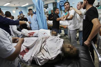 המחבלים שנהרגו אמש ברצועת עזה  (צילום: רויטרס)