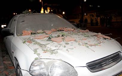 נזקי הפיצוץ (צילום: אליעד לוי)