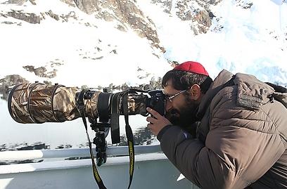 """""""לצלם טבע זה לצלם את הבורא בכבודו ובעצמו"""". באנטרקטיקה (צילום: מאיר אלפסי)"""