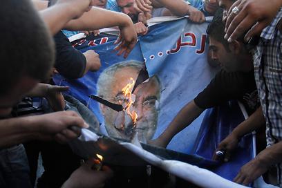 חמאס מלהיט את הרוחות? הפגנה בחברון במחאה על יוקר המחייה (צילום: AP)