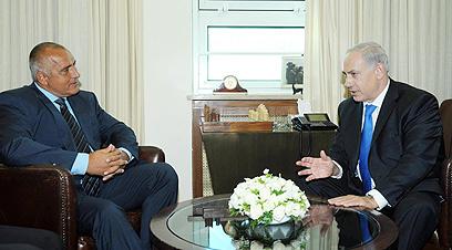 """""""הדיפלומטיה לא עבדה"""". נתניהו עם ראש ממשלת בולגריה בוריסוב (צילום: עמוס בן גרשום, לע""""מ)"""