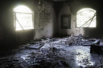 הקונסוליה, לאחר המתקפה (צילום: AFP)