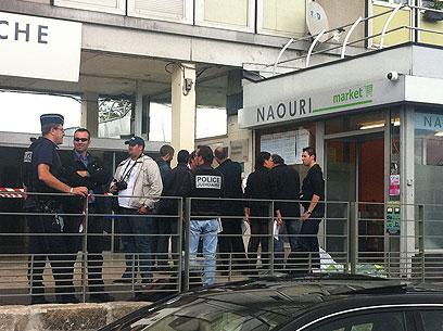 תקיפת מרכול כשר של יהודים בצרפת (צילום: מנחם לדיוב, anachinfos.com)