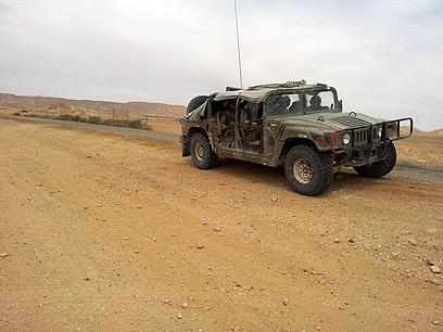 חיילות מגדוד קרקל בגבול מצרים. ארכיון (צילום: יואב זיתון)