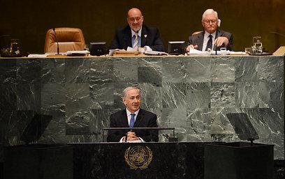 ראש הממשלה מתקבל בעצרת הכללית (צילום: שחר עזרן)