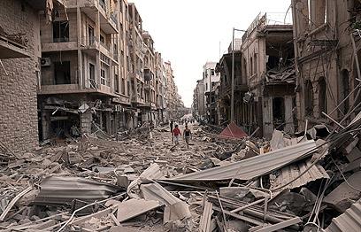 ההרס בחלב (צילום: AP)