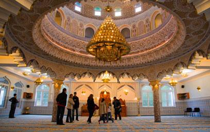 מסגד פתוח לביקור. פרנקפורט (צילום: אנס אבודעבס)