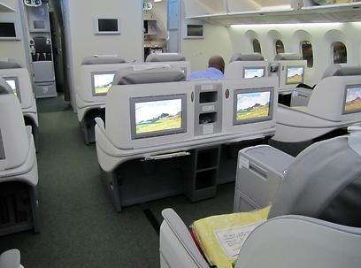 חוויית הטיסה במחלקת היוקרה ב-787 היא משהו שלא הכרתם (צילום: דני שדה)
