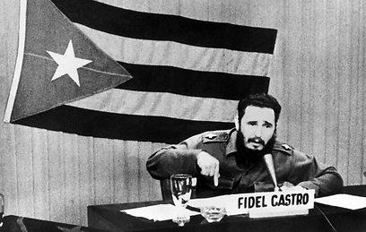 קסטרו ב-22 באוקטובר 1962 (צילום: AFP)