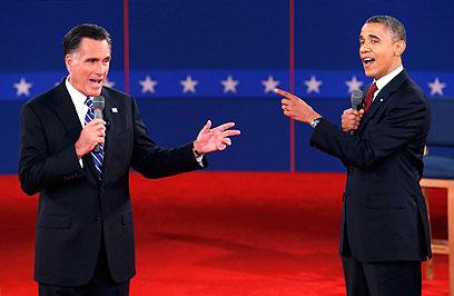 אובמה ורומני מתעמתים. מי יישב מול האיראנים? (צילום: רויטרס)