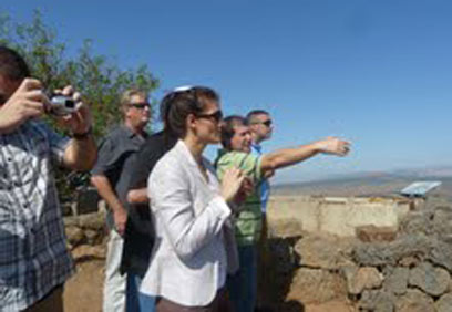 US counter-terror experts in Golan Heights