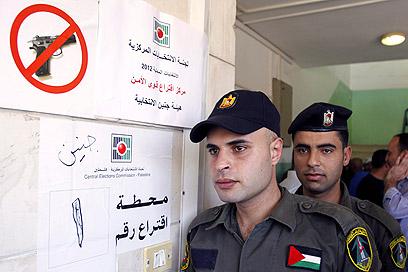 אנשי הביטחון ברשות כבר מצביעים. ג'נין (צילום: AP)