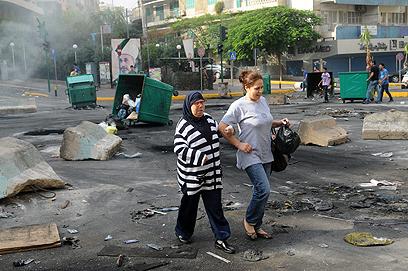 רחובות לבנון, היום (צילום: AP)