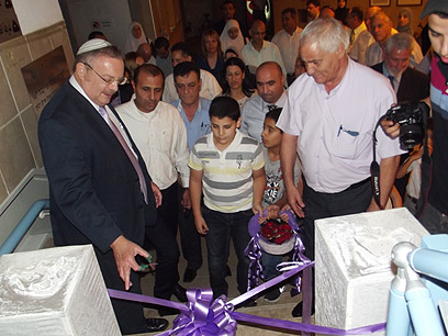 Minister Hershkowitz at space center opening (Photo:Hassan Shaalan)