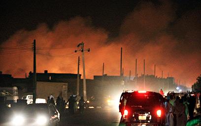 אזור הפיצוץ (צילום: רויטרס)