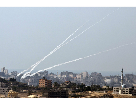 Rockets fired at Israel from within residential area