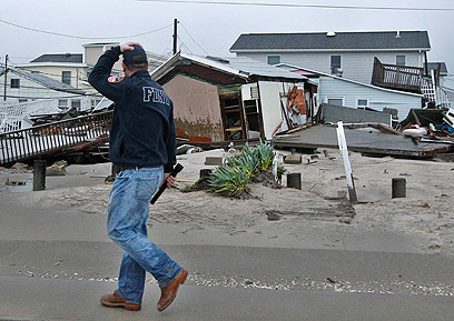 בתים שניזוקו בקווינס (צילום: רויטרס)