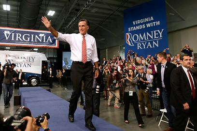 מיט רומני בווירג'יניה, היום (צילום: AP)