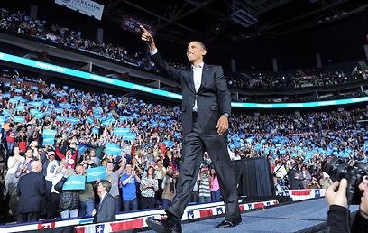 """אובמה באוהיו. """"ינקום"""" בנתניהו? (צילום: AFP)"""