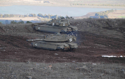 IDF tanks near the Syrian border - Photo: Avihu Shapira