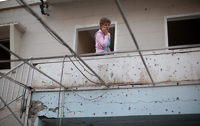 בית שנפגע בנתיבות (צילום: Gettyimages)