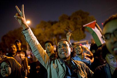 הפגנה נגד ישראל בקהיר (צילום: AP)