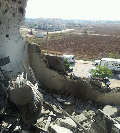 Rocket damage in Israel's Kiryat Malachi
