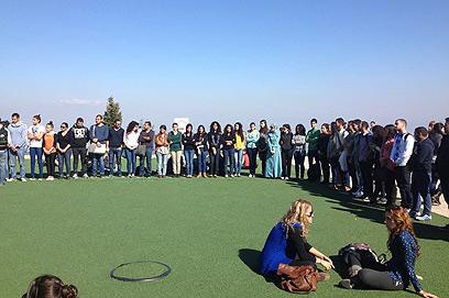 דקת דומייה באוניברסיטת חיפה  (צילום: רונית מוסקוביץ')