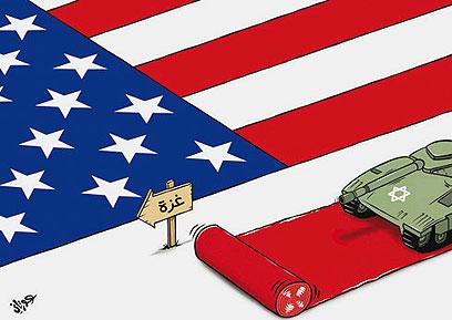 לעזה. ביקורת על הגיבוי האמריקני לישראל בעמוד ענן