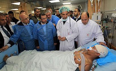 בית החולים שיפא בעזה (צילום: AFP)