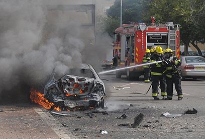 Damage from rocket attack on Ashdod during Pillar of Defense (Photo: Avi Rokach)