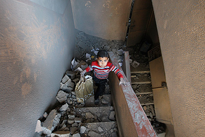 הרס בעזה לאחר תקיפת חיל האוויר (צילום: AP)