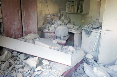 Beer Sheva home hit by missile