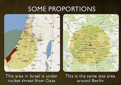 """""""קצת פרופורציות"""" - המפות שפרסמה השגרירות"""