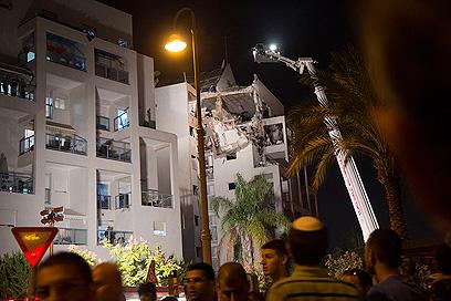 הבית שנפגע (צילום: אסי עמר)